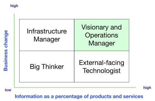 CTO quadrant - visionary